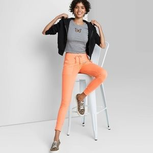 Wild fable orange jogger sweatpants NEW WITH TAGS